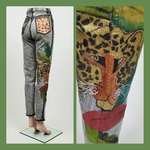 Vtg hand painted jeans